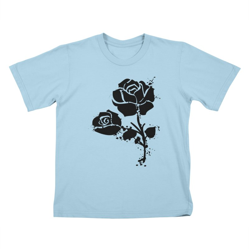 Black roses Kids T-Shirt by cindyshim's Artist Shop