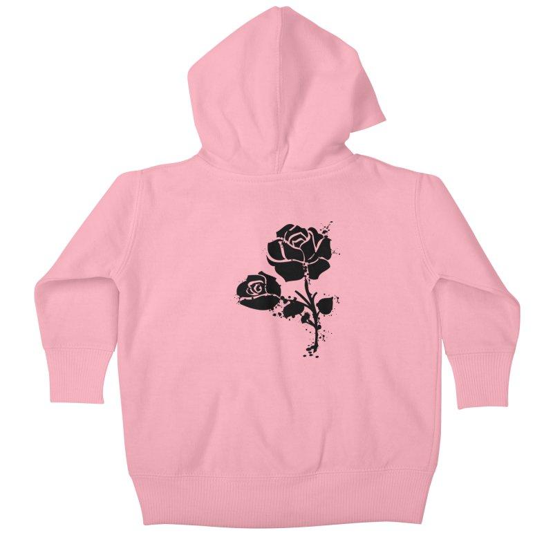 Black roses Kids Baby Zip-Up Hoody by cindyshim's Artist Shop