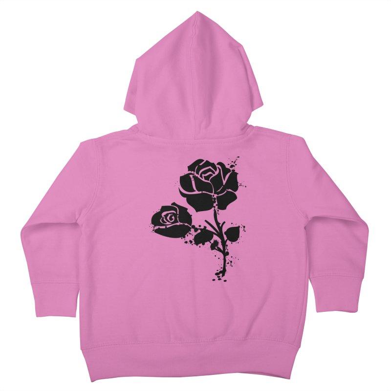 Black roses Kids Toddler Zip-Up Hoody by cindyshim's Artist Shop