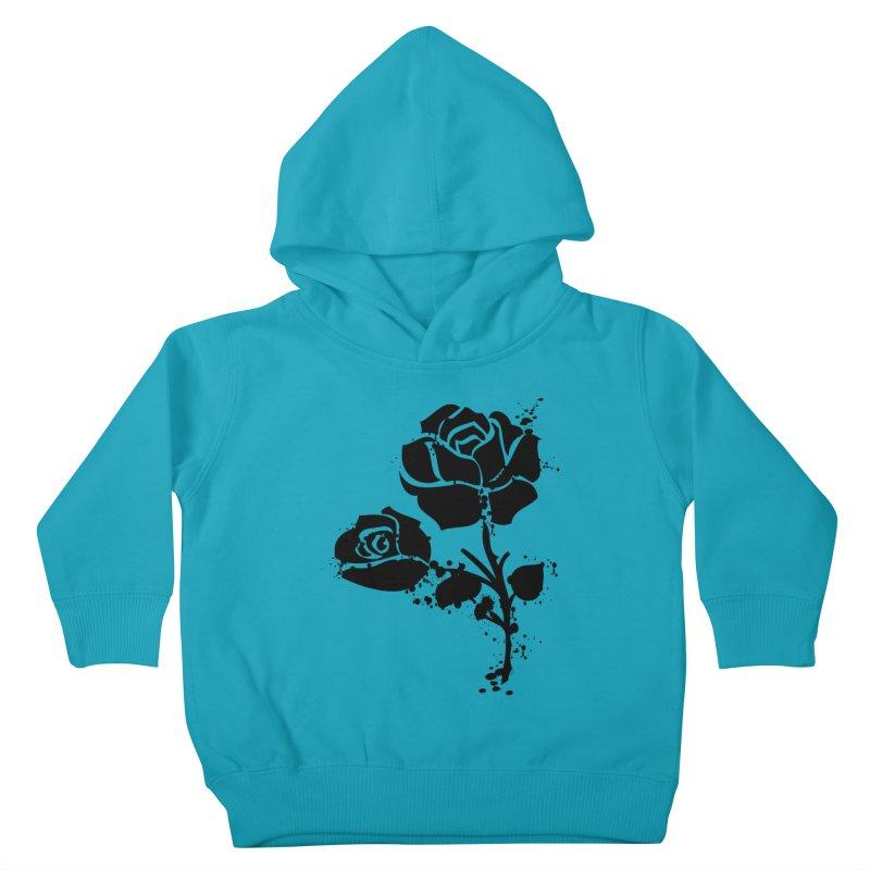 Black roses Kids Toddler Pullover Hoody by cindyshim's Artist Shop