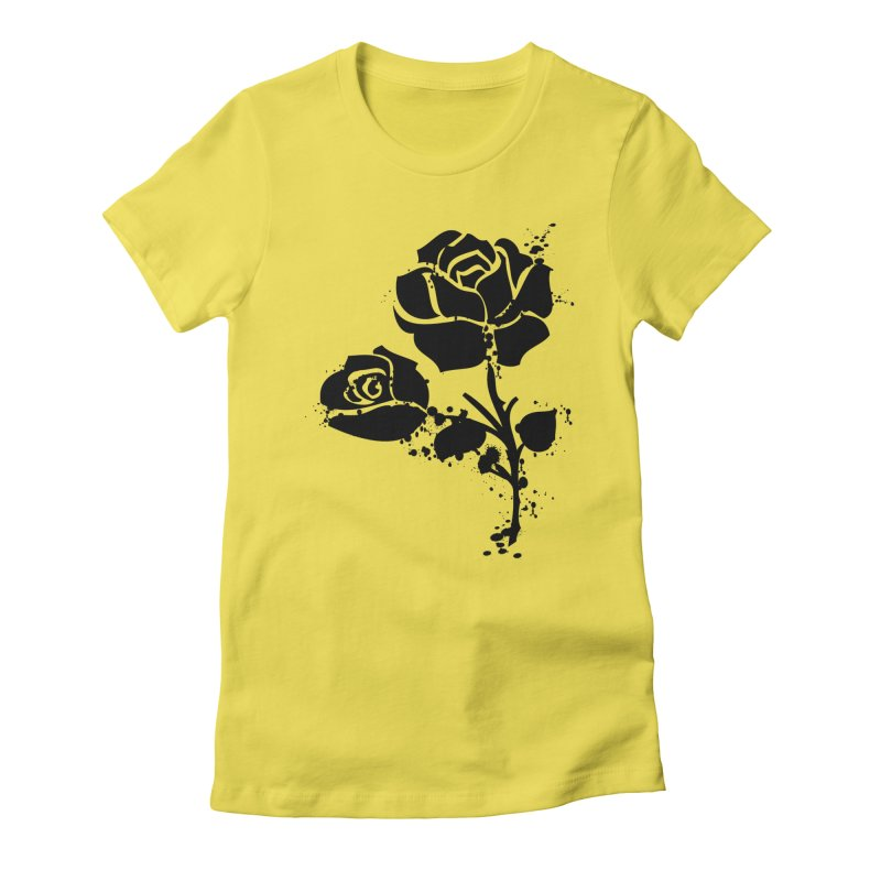 Black roses Women's Fitted T-Shirt by cindyshim's Artist Shop