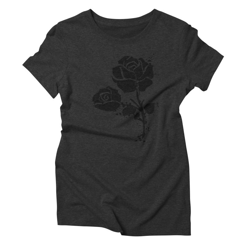 Black roses Women's Triblend T-Shirt by cindyshim's Artist Shop