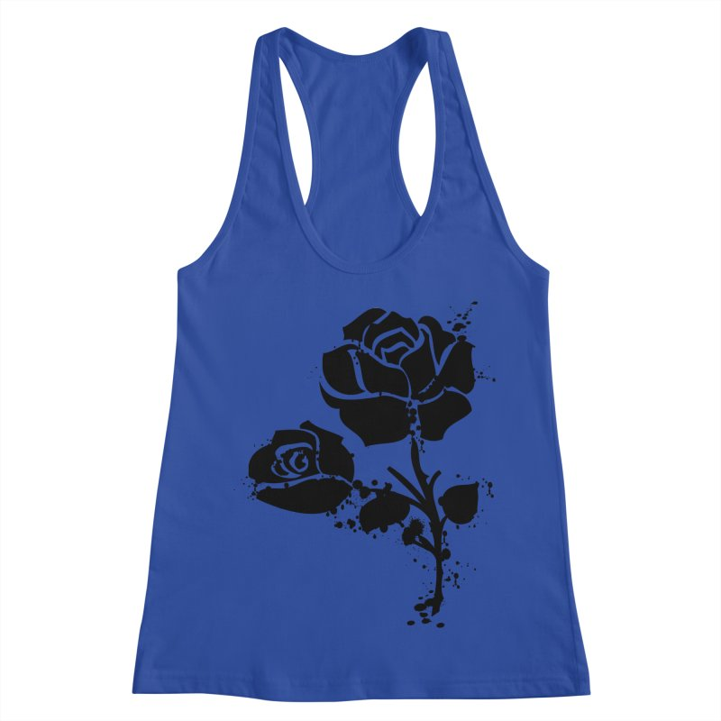 Black roses Women's Racerback Tank by cindyshim's Artist Shop