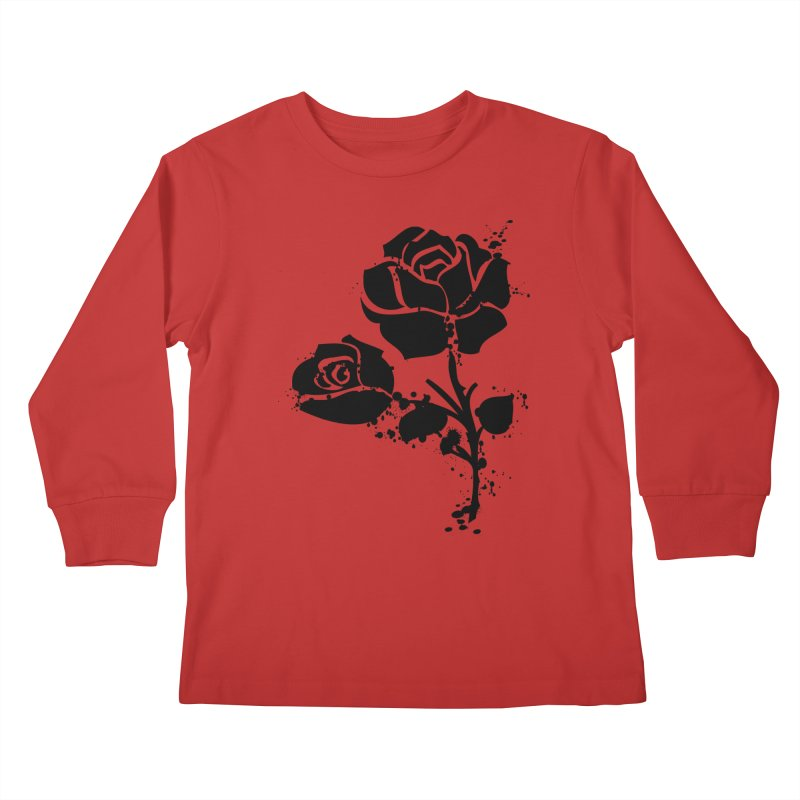 Black roses Kids Longsleeve T-Shirt by cindyshim's Artist Shop