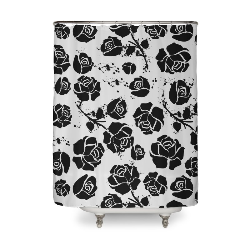 Black roses Home Shower Curtain by cindyshim's Artist Shop