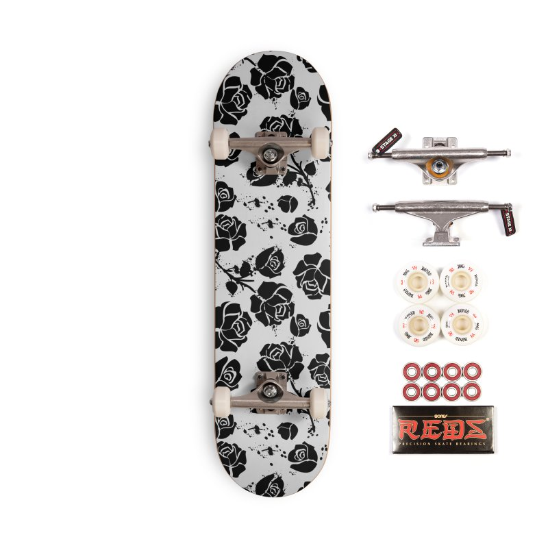 Black roses Accessories Complete - Pro Skateboard by cindyshim's Artist Shop
