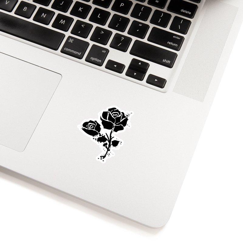 Black roses Accessories Sticker by cindyshim's Artist Shop