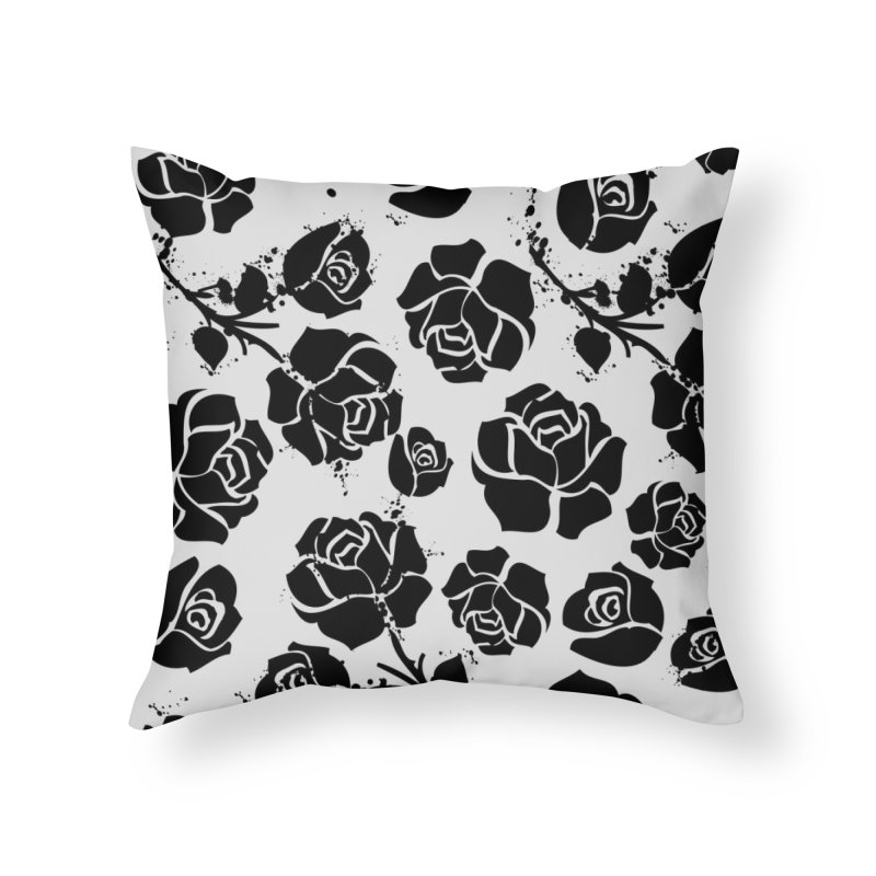 Black roses Home Throw Pillow by cindyshim's Artist Shop