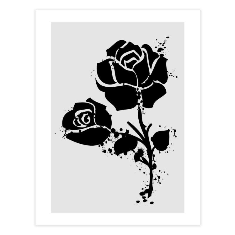 Black roses Home Fine Art Print by cindyshim's Artist Shop