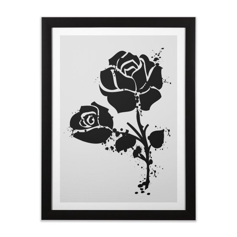 Black roses Home Framed Fine Art Print by cindyshim's Artist Shop