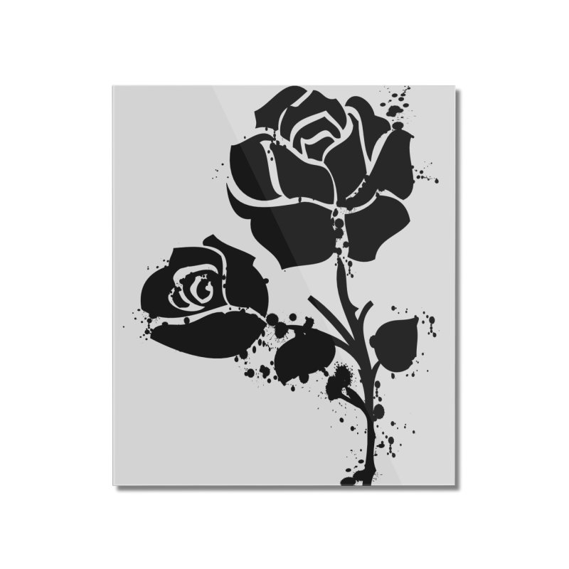 Black roses Home Mounted Acrylic Print by cindyshim's Artist Shop