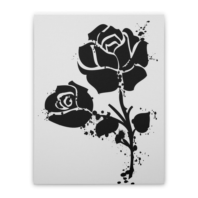 Black roses Home Stretched Canvas by cindyshim's Artist Shop