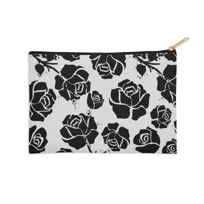 Black roses Accessories Zip Pouch by cindyshim's Artist Shop