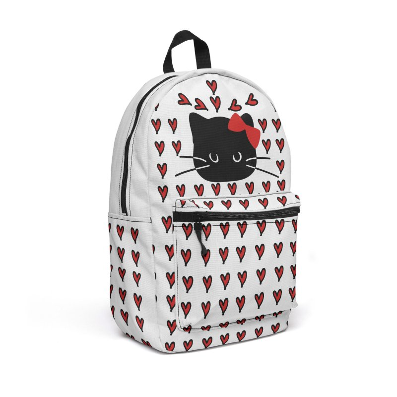 Love Love Cat Accessories Backpack Bag by cindyshim's Artist Shop
