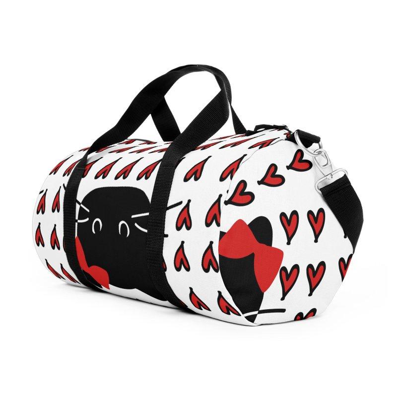 Love Love Cat Accessories Duffel Bag Bag by cindyshim's Artist Shop