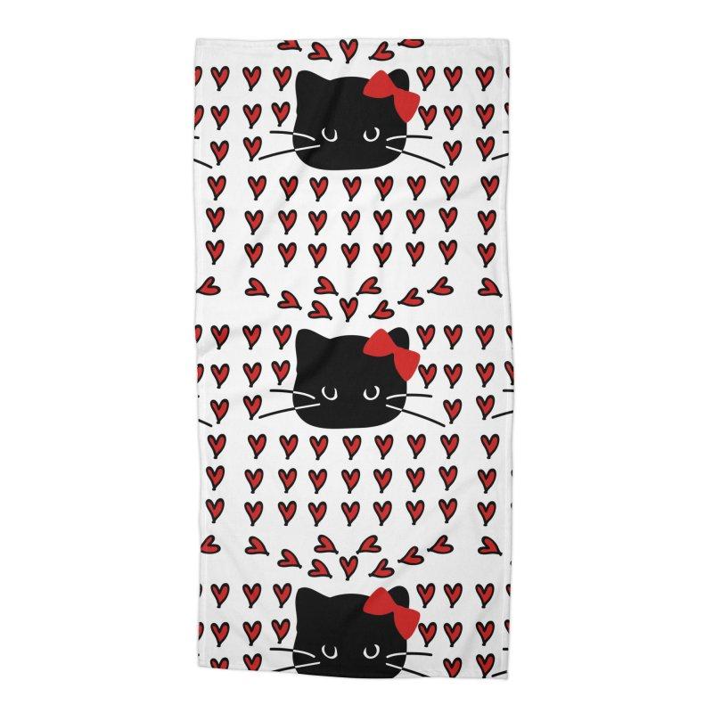 Love Love Cat Accessories Beach Towel by cindyshim's Artist Shop