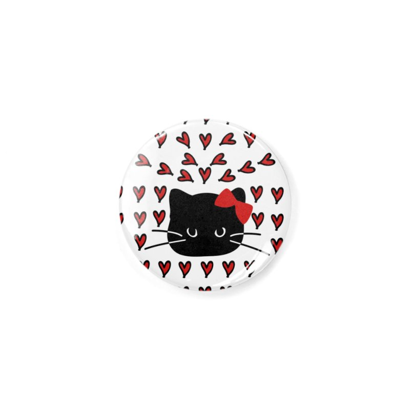Love Love Cat Accessories Button by cindyshim's Artist Shop