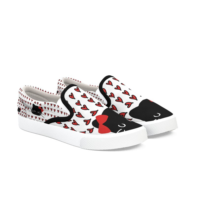 Love Love Cat Women's Slip-On Shoes by cindyshim's Artist Shop