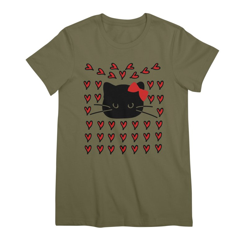 Love Love Cat Women's Premium T-Shirt by cindyshim's Artist Shop