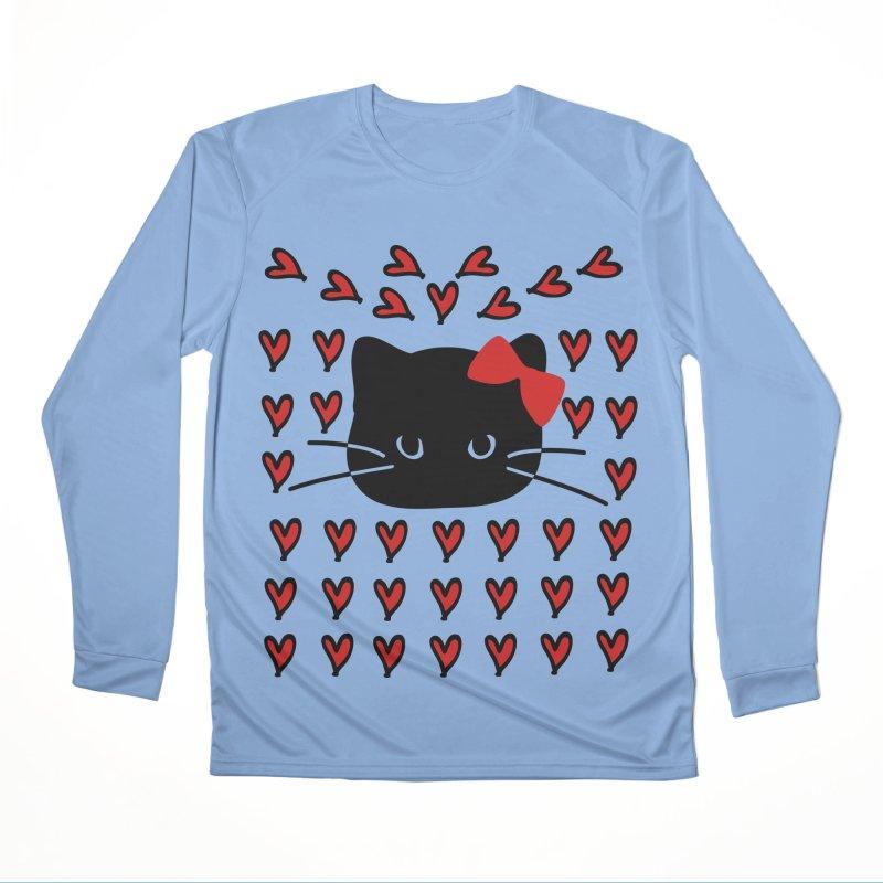Love Love Cat Men's Performance Longsleeve T-Shirt by cindyshim's Artist Shop
