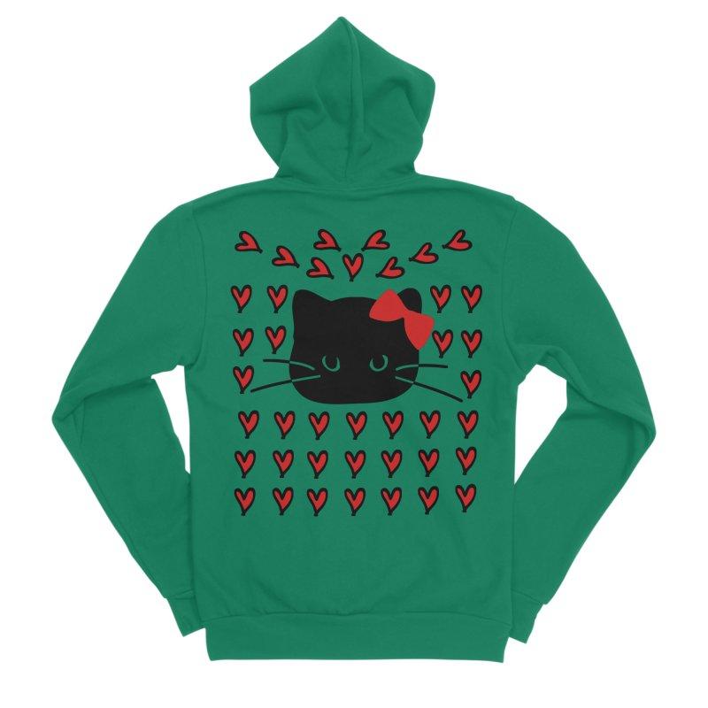 Love Love Cat Men's Sponge Fleece Zip-Up Hoody by cindyshim's Artist Shop