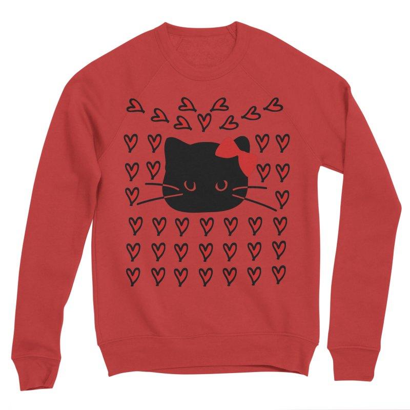 Love Love Cat Women's Sponge Fleece Sweatshirt by cindyshim's Artist Shop