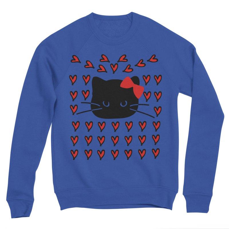 Love Love Cat Men's Sponge Fleece Sweatshirt by cindyshim's Artist Shop