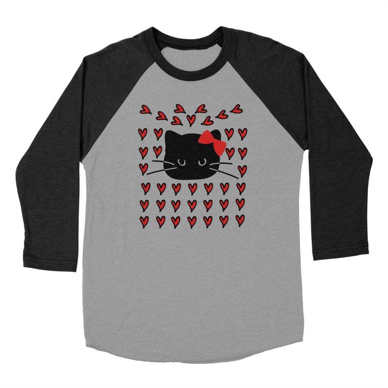 Love Love Cat Men's Baseball Triblend Longsleeve T-Shirt by cindyshim's Artist Shop
