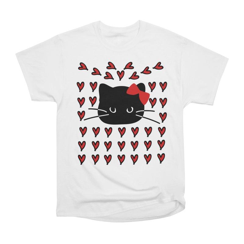 Love Love Cat Men's Heavyweight T-Shirt by cindyshim's Artist Shop