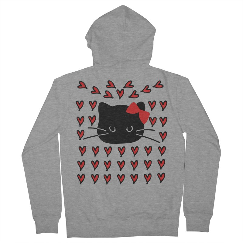 Love Love Cat Women's French Terry Zip-Up Hoody by cindyshim's Artist Shop