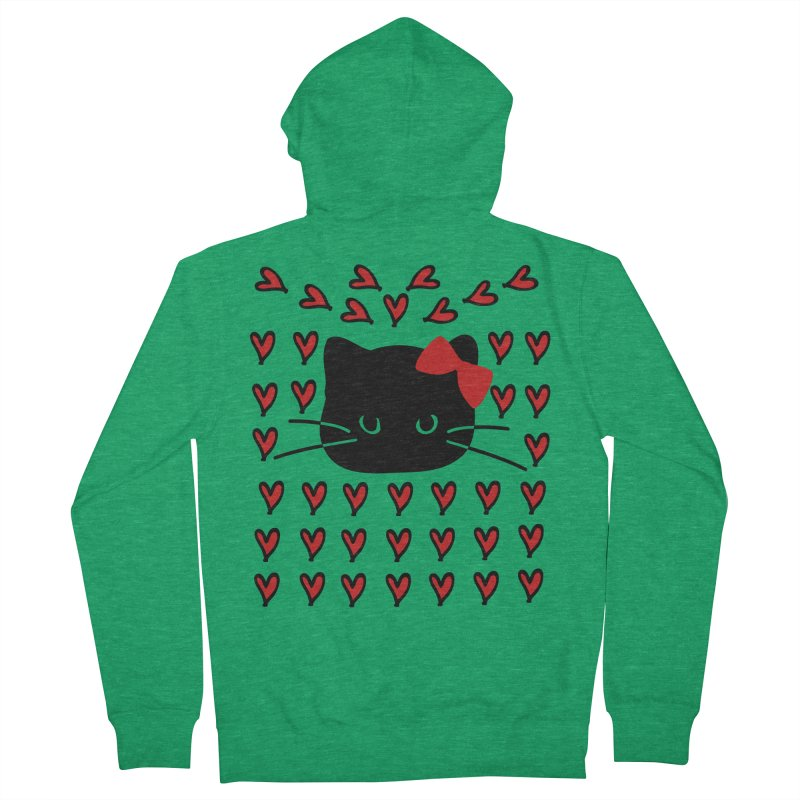 Love Love Cat Men's French Terry Zip-Up Hoody by cindyshim's Artist Shop