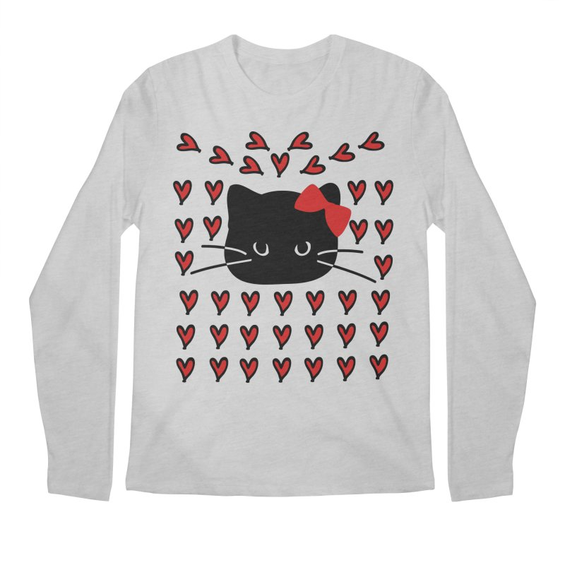 Love Love Cat Men's Regular Longsleeve T-Shirt by cindyshim's Artist Shop
