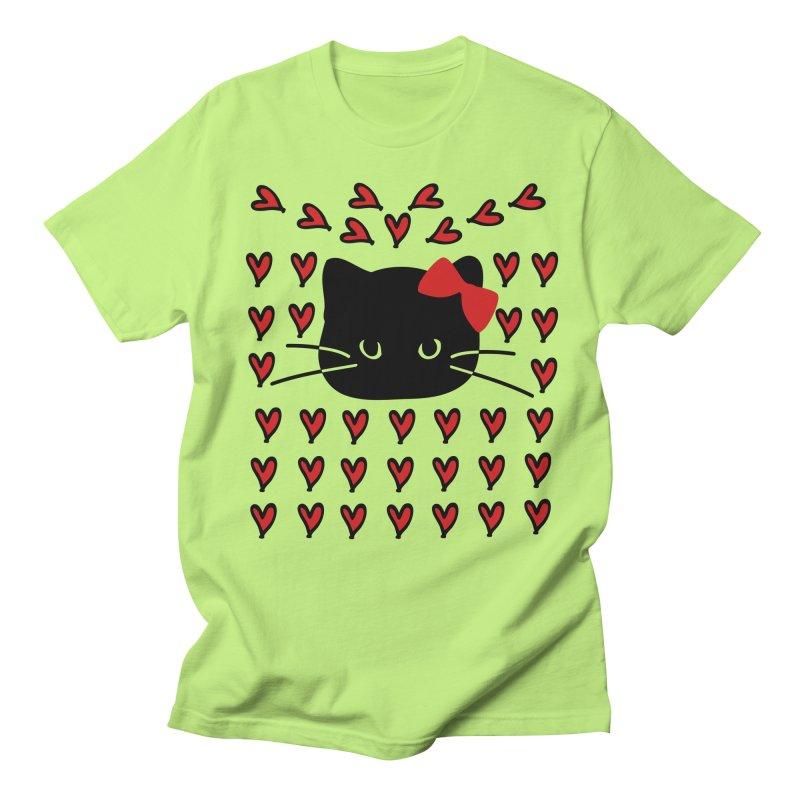 Love Love Cat Men's Regular T-Shirt by cindyshim's Artist Shop