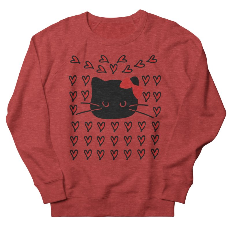 Love Love Cat Women's French Terry Sweatshirt by cindyshim's Artist Shop