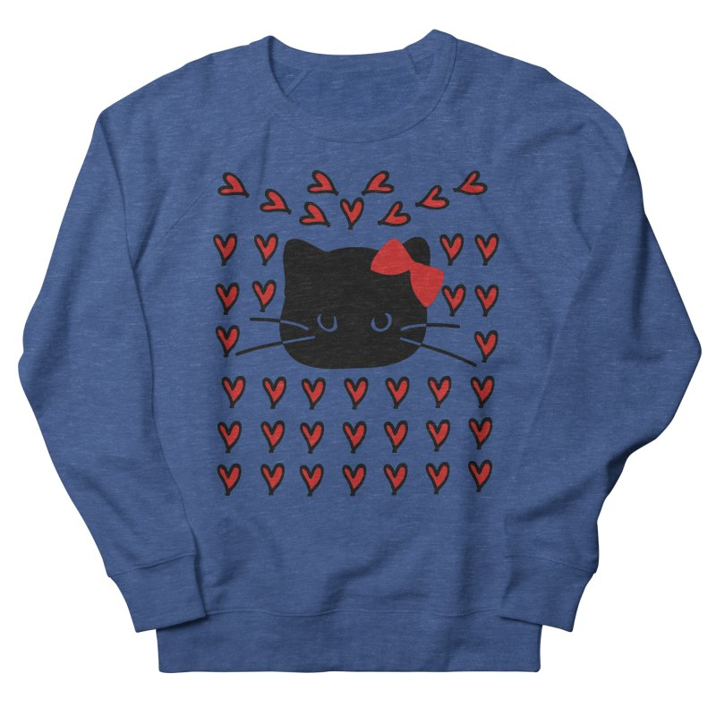 Love Love Cat Men's French Terry Sweatshirt by cindyshim's Artist Shop