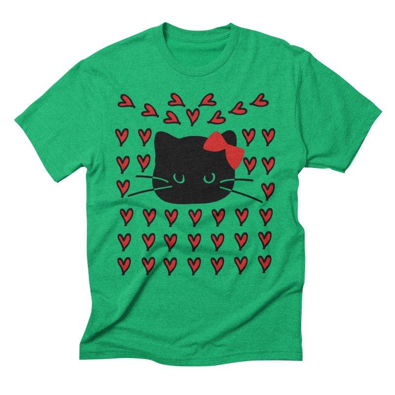 Love Love Cat Men's Triblend T-Shirt by cindyshim's Artist Shop