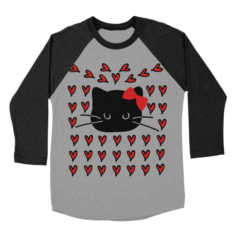 Love Love Cat Women's Baseball Triblend Longsleeve T-Shirt by cindyshim's Artist Shop
