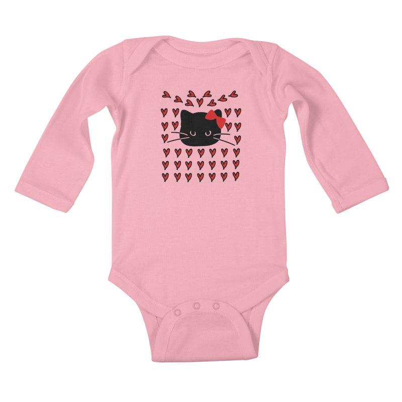 Love Love Cat Kids Baby Longsleeve Bodysuit by cindyshim's Artist Shop