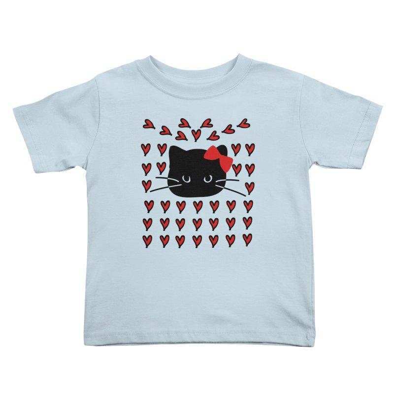 Love Love Cat Kids Toddler T-Shirt by cindyshim's Artist Shop