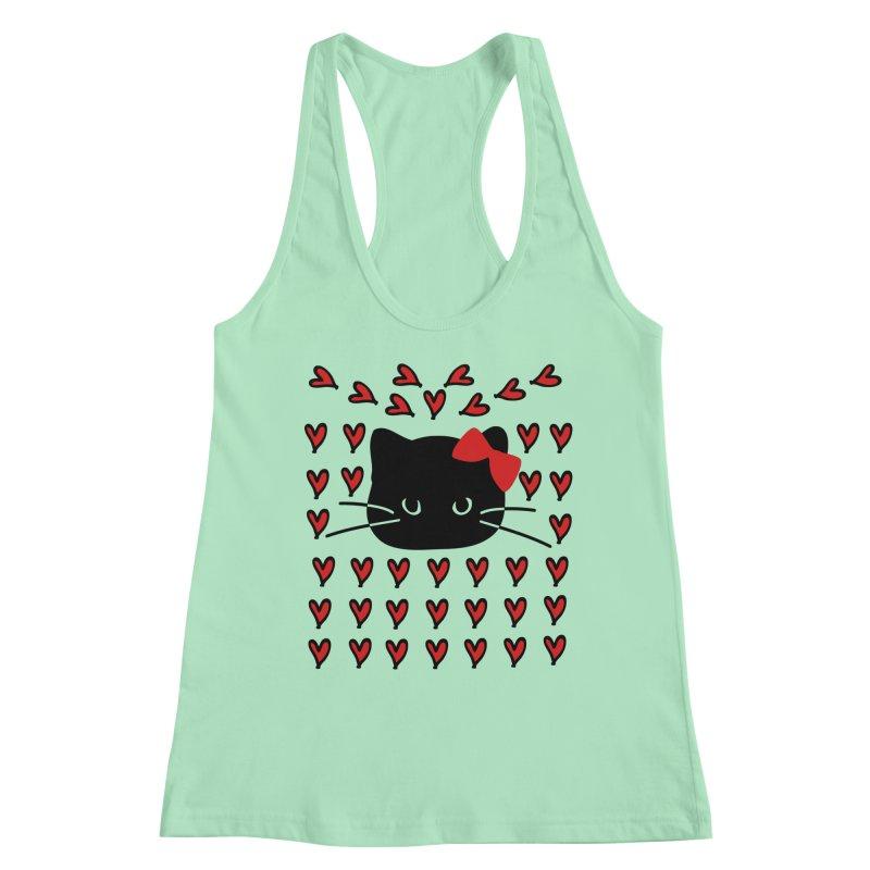 Love Love Cat Women's Racerback Tank by cindyshim's Artist Shop