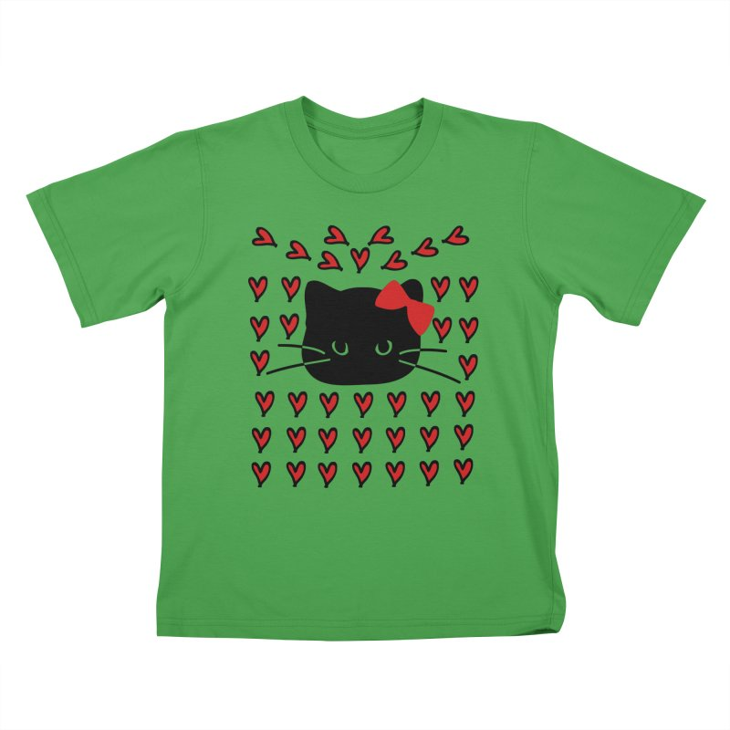 Love Love Cat Kids T-Shirt by cindyshim's Artist Shop