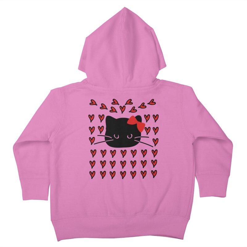 Love Love Cat Kids Toddler Zip-Up Hoody by cindyshim's Artist Shop