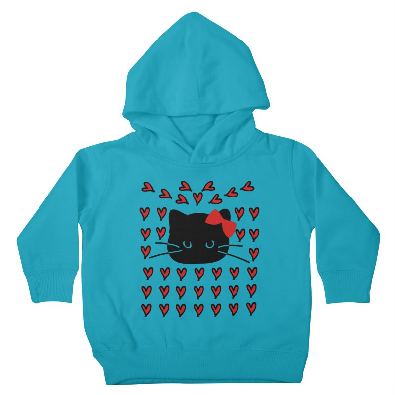 Love Love Cat Kids Toddler Pullover Hoody by cindyshim's Artist Shop