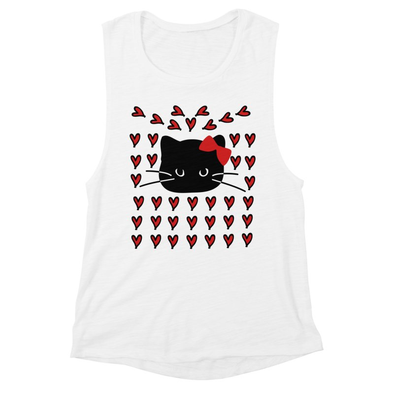 Love Love Cat Women's Muscle Tank by cindyshim's Artist Shop