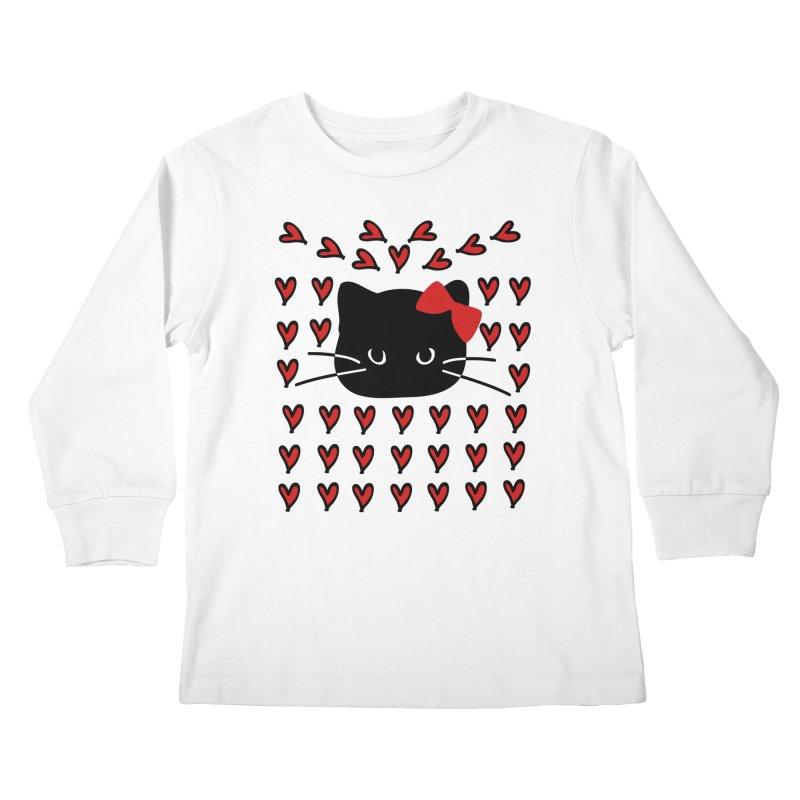 Love Love Cat Kids Longsleeve T-Shirt by cindyshim's Artist Shop