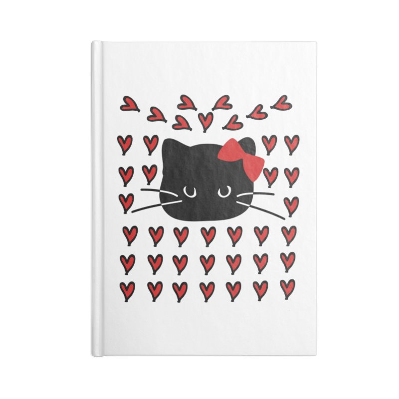 Love Love Cat Accessories Lined Journal Notebook by cindyshim's Artist Shop