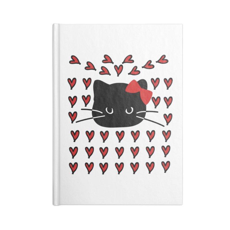 Love Love Cat Accessories Blank Journal Notebook by cindyshim's Artist Shop