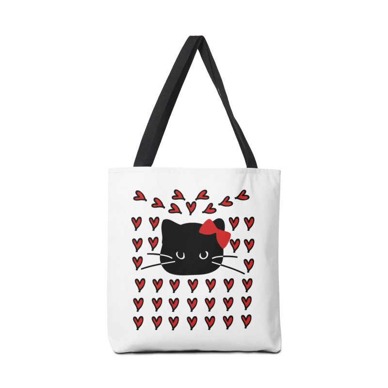 Love Love Cat Accessories Tote Bag Bag by cindyshim's Artist Shop