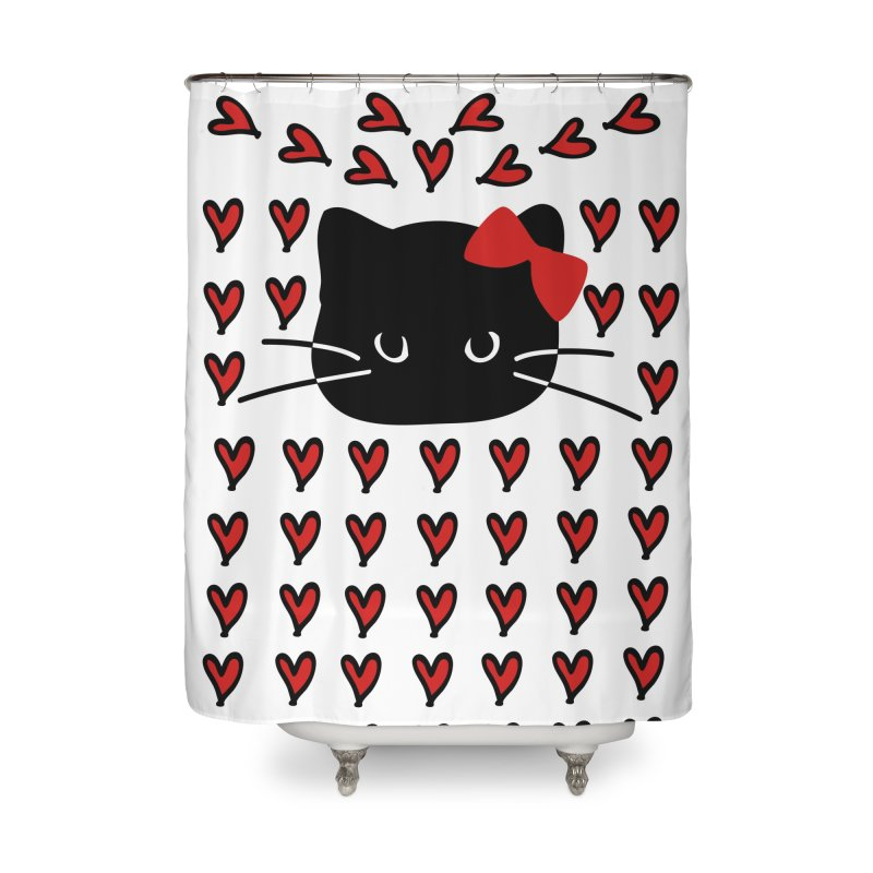 Love Love Cat Home Shower Curtain by cindyshim's Artist Shop