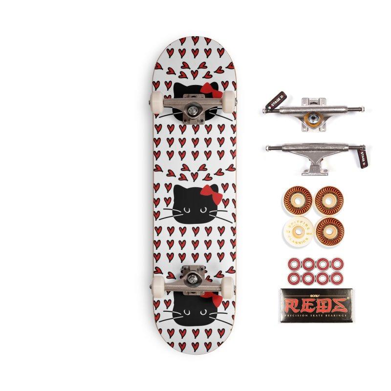 Love Love Cat Accessories Skateboard by cindyshim's Artist Shop